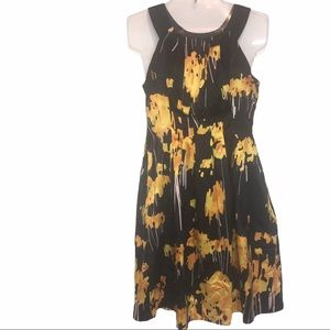 The Limited Black Yellow Floral Dress Size 4